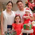 Dom, filho de Wesley Safadão, ganhou uma festa com tema natalino para comemorar os três meses nesta terça-feira, 18 de dezembro de 2018