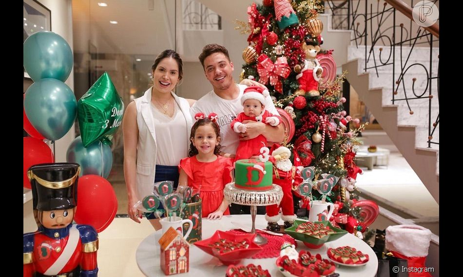 Dom, filho de Wesley Safadão, ganhou uma festa com tema natalino para  comemorar os 6be5d335b5