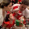 Wesley Safadão e Thyane Dantas preparam uma festa com tema natalino para o mesversário de Dom