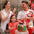 Wesley Safadão e Thyane Dantas comemorar o terceiro mesversário de Dom nesta terça-feira, 18 de dezembro de 2018