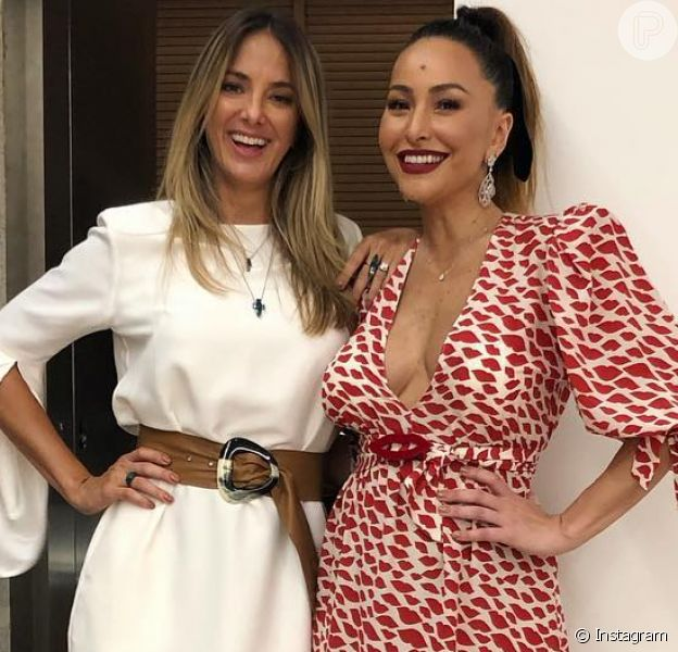 Ticiane Pinheiro encontrou Sabrina Sato em uma festa e elogiou o corpo da apresentadora após o nascimento da filha, Zoe