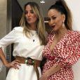 Sabrina Sato e Ticiane Pinheiro se encontraram em uma confraternização de fim de ano
