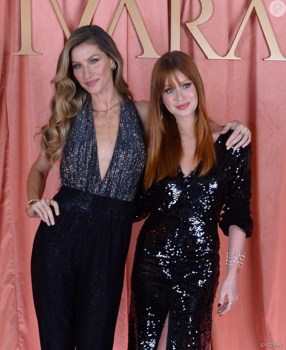 Veja foto dos looks de Marina Ruy Barbosa, Gisele Bündchen e mais famosas e festa de fim de ano da marca de joias Vivara  na noite desta quarta-feira, 19 de dezembro de 2018