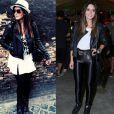 Giovanna Lancelloti tem como peça-chave a jaqueta de couro preta. A atriz exibe produções para o dia e para a noite com a peça