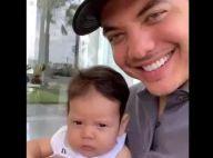 Momento pai e filho! Wesley Safadão mostra Dom em vídeo fofo: 'Eu encaro mesmo'
