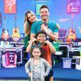 Wesley Safadão é pai de Ysis, de 4 anos,  Yhudy, de 8, e Dom, de 3 meses