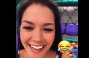 Teló invade vídeo de Thais Fersoza, ajeita vestido da mulher e diverte a atriz