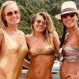 Angélica foi elogiada ao posar de maiô em férias com Carolina Dieckmann em Angra dos Reis (RJ)