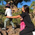 Adriana Sant'Anna aproveitou os parques da Disney com os herdeiros