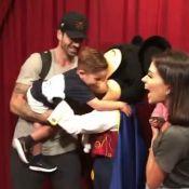 Adriana Sant'Anna filma encontro dos filhos com Mickey na Disney: 'Sem ar'
