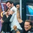Tudo começou quando Susana Vieira pediu e ganhou um selinho de Rodrigo Lombardi