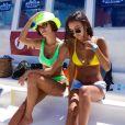 Beachwear amarelo + verde