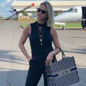 Sacola de luxo e chunky sneakers: Andressa Suita anuncia férias com muito estilo