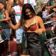 Mileide Mihaile samba e requebra na quadra da Grande Rio, no Rio de Janeiro, nesta terça-feira, 29 de janeiro de 2019