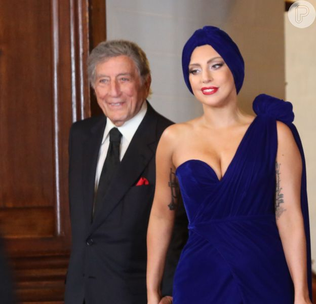 Lady Gaga e Tony Bennett participam de coletiva de imprensa do álbum 'Cheek to Cheek', na Bélgica