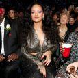 Rihanna na 60ª edição do Grammy Awards, realizada no Madison Square Garden, em Nova York, neste domingo, 28 de janeiro de 2018