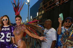 Sabrina Sato faz homenagem à filha, Zoe, em ensaio de Carnaval: 'Minha vida'