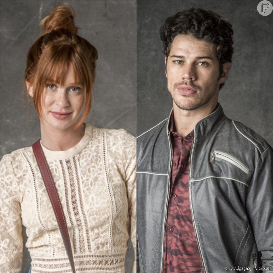 Luz (Marina Ruy Barbosa) vai atrás de Júnior (José Loreto) e praticamente o pede em casamento na novela 'O Sétimo Guardião': 'Pra ficar juntos, você sabe, precisa ter compromisso'