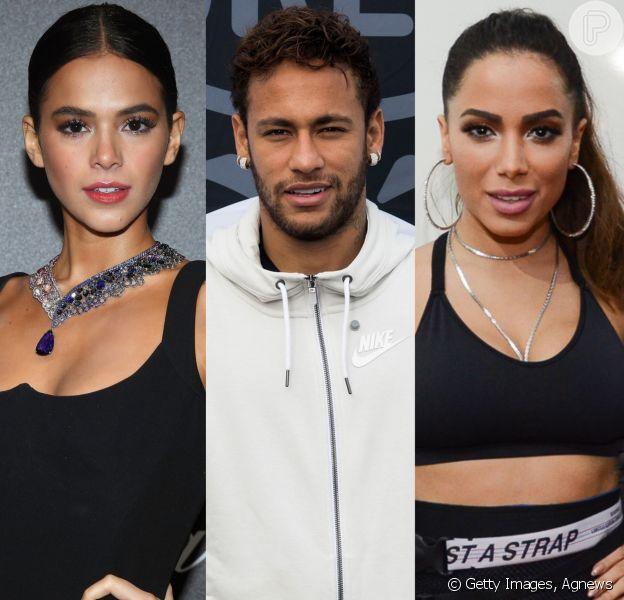 Bruna Marquezine parou de falar com Anitta após cantora ficar com Neymar em um dos seus términos com o jogador
