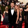 Atualmente, a modelo Gisele Bündchen e jogador de futebol americano Tom Brady têm 38 e 41 anos, respectivamente