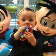 Manuela e o irmão, Arthur, filhos de Eliana, já visitaram a Turma da Mônica