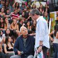 Cid Moreira durante participação no 'Altas Horas'