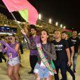 Bruna Marquezine c onferiu o Desfile das Campeãs do Rio de Janeiro  neste sábado, 9 de março de 2019