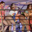 Anitta recebeu Lexa e Laura Neiva em seu Bloco das Poderosas neste domingo, 10 de março de 2019, em São Paulo