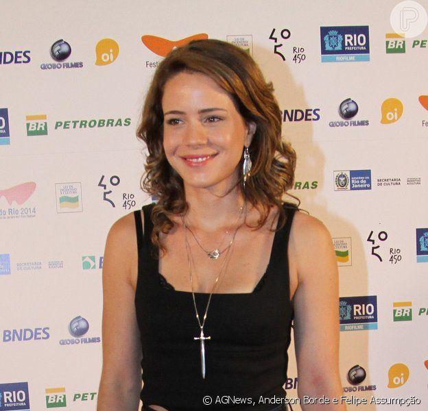Leandra Leal prestigiou a exibição do filme 'O Fim de uma Era' no Festival do Rio, em 30 de setembro de 2014