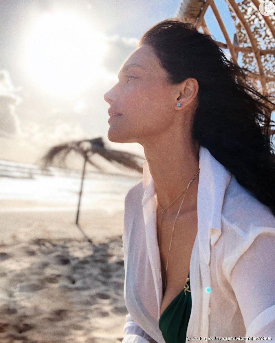 Débora Nascimento ganhou elogio por recordar em foto quando estava grávida da filha, Bella: 'Maravilhosa'
