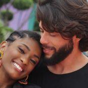 Erika Januza posta foto com namorado, Victor Evangelista, em viagem aos EUA