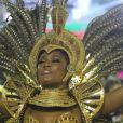 Erika Januza foi destaque do desfile de carnaval da Grande Rio
