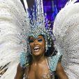 Erika Januza destacou paciência do namorado, Victor Evangelista, durante o carnaval quando ela desfilou na Vai-Vai e na Grande Rio: 'Estava paciente. Tadinho quase não me viu, só me viu por foto'