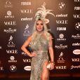 Baile da Vogue: Mais detalhes do vestido de Juju Salimeni com recortes e fendas