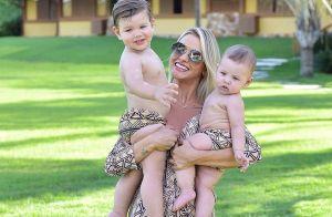 Andressa Suita fica encantada com semelhança entre os filhos: 'Mãe não aguenta'