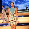 Vestido de couro todo em patchwork de Patrícia Motta é um sucesso para dias mais amenos e produções mais festivas