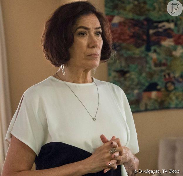 Valentina (Lília Cabral) ser liberada da prisão após acordo entre Gabriel (Bruno Gagliasso) e Olavo (Tony Ramos), na novela 'O Sétimo Guardião'.