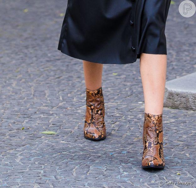 Animal print é tendência! Confira os looks com estampas de bicho que fizeram sucesso no street style da Semana de Moda de São Paulo