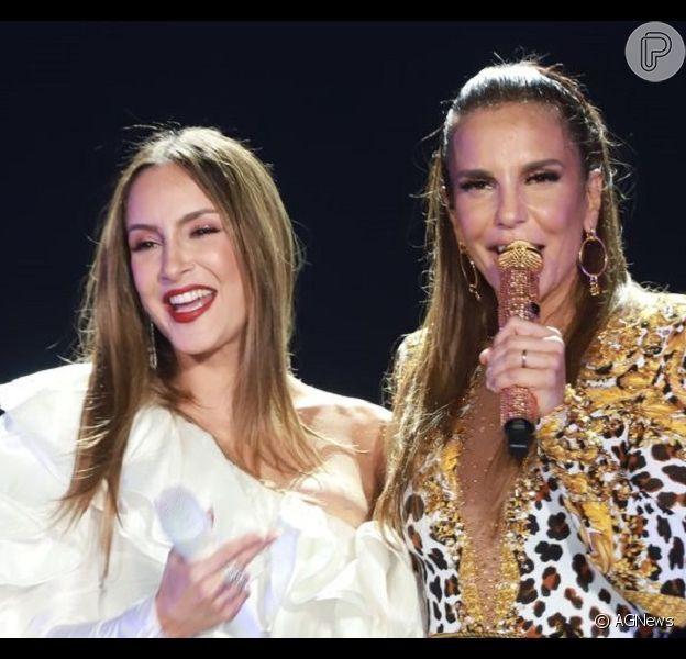 Grávida, Claudia Leitte é comparada a Ivete e dá resposta divertida nesta quinta-feira, dia 02 de abril de 2019