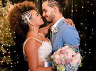Renda, 12 colares de pérolas e mais! O vestido de noiva de Jeniffer Nascimento