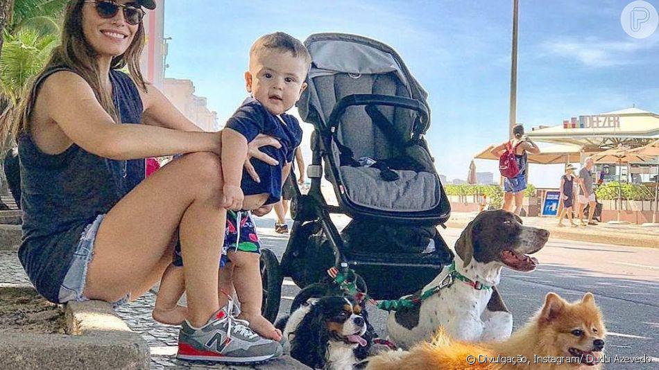 Joaquim, filho de Dudu Azevedo e Fernanda Mader, encantou os seguidores do ator em foto postada por ele nesta terça-feira (07).