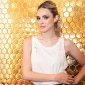 Couro girl! Isabelle Drummond elege look fashionista em evento de moda