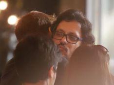Fabio Porchat consola filho de Lúcio Mauro durante velório: 'Era genial'. Fotos!