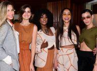Trend da temporada, famosas apostam em tons terrosos para desfile de moda