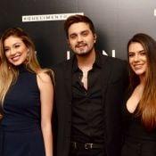 Luan Santana recebe namorada, Jade Magalhães, e a irmã, Bruna, em show. Fotos!