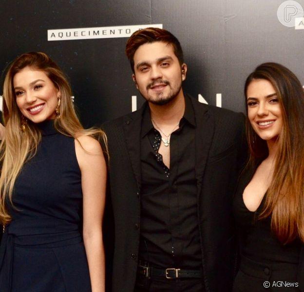 Luan Santana recebeu a namorada, Jade Magalhães, e a irmã, Bruna Santana, em show na noite desta sexta-feira, 17 de maio de 2019