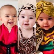 Fashion Zoe! Em 6 meses, bebê usou 98 looks, 32 acessórios de cabeça e 5 óculos