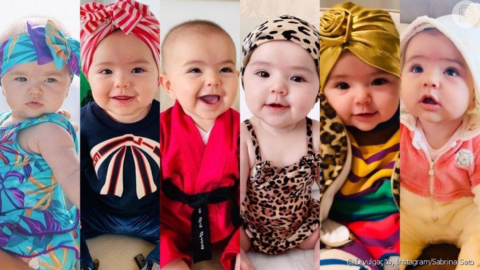 Fashion Zoe: bebê usou 98 looks, 32 acessórios de cabeça e 5 óculos. Relembre looks no mesversário dela nesta quarta-feira, dia 29 de maio de 2019