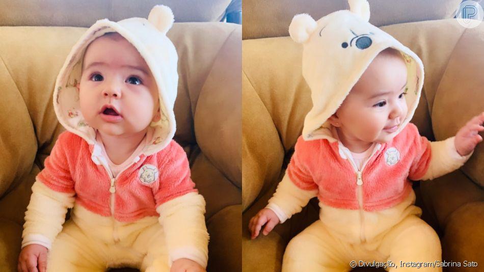 Filha de Sabrina Sato, Zoe aparece vestida de ursinho e sapinho em foto postada na sexta-feira, dia 25 de maio de 2019