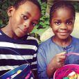 Os filhos adotivos de Madonna, David Banda e Mercy James, ambos com 8 anos de idade